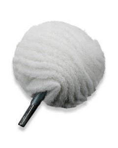 Non scratch Scruff ball (schuurvliesbal) white 75 mm
