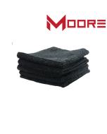 Moore Plush Microvezel doek Zwart 400 g / m2