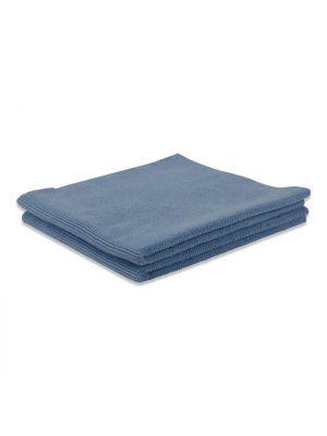 Microvezeldoek randloos blauw 40x40